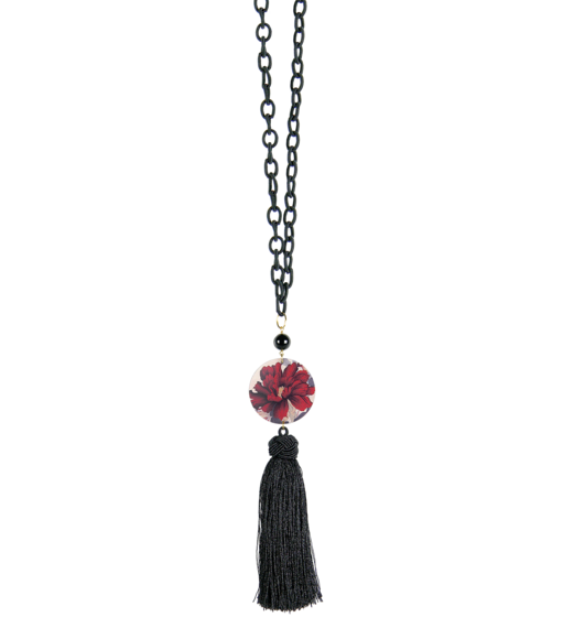 red-flower-necklace-black-stone