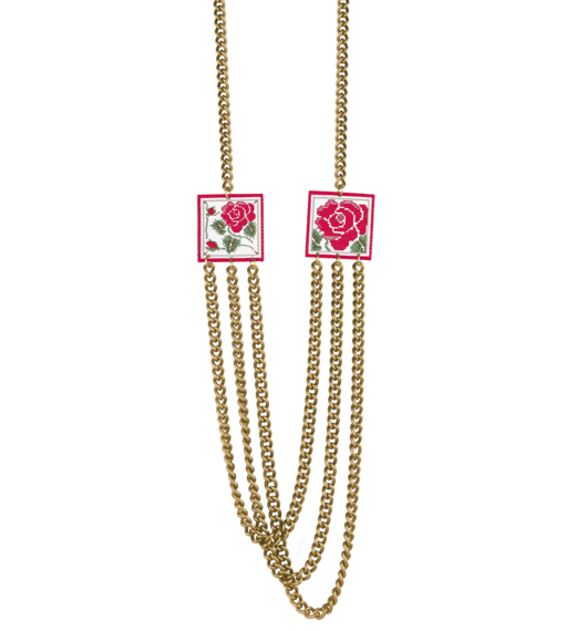 three-wire-rose-necklace